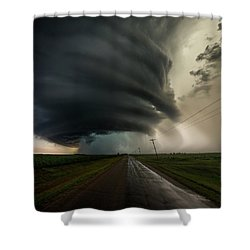 Shower Curtain featuring the photograph Road To Mesocyclone by Aaron J Groen