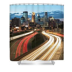 Road To Minneapolis Shower Curtain