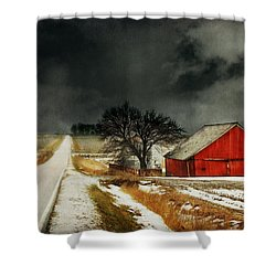 Shower Curtain featuring the photograph Road To Nowhere by Julie Hamilton