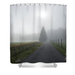 Road To Nowhere Shower Curtain by Yuri Santin