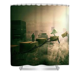 Shower Curtain featuring the digital art Road To Recovery  by Nathan Wright