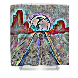 Shower Curtain featuring the painting Road To Sedona 2 by Reed Novotny