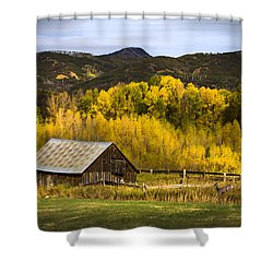 Road To Steamboat Lake Shower Curtain by John Hix