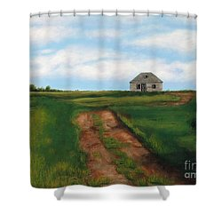 Road To The Past Shower Curtain by Billinda Brandli DeVillez
