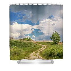 Road To The Sky Shower Curtain