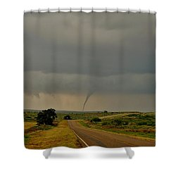 Shower Curtain featuring the photograph Road To The Twister by Ed Sweeney
