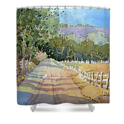 Road To The Vineyard Shower Curtain