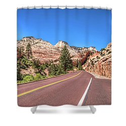 Road To Zion Shower Curtain by Brent Durken