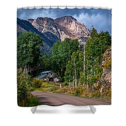 Road Towards Cinnamon Pass Shower Curtain