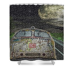 Road Trip In The Rain Shower Curtain