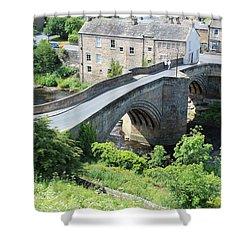 Roadbridge Over The River Tees Shower Curtain