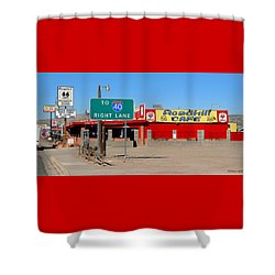 Roadkill Cafe, Route 66, Seligman Arizona Shower Curtain