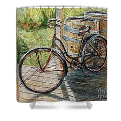 Roadmaster Bicycle 2 Shower Curtain by Joey Agbayani