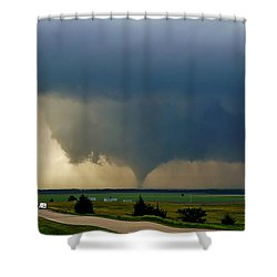 Shower Curtain featuring the photograph Roadside Twister by Ed Sweeney