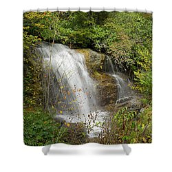 Shower Curtain featuring the photograph Roadside Waterfall In North Carolina by Mike McGlothlen