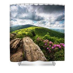 Roan Mountain Radiance Appalachian Trail Nc Tn Mountains Shower Curtain