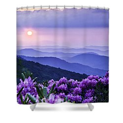 Roan Mountain Sunset Shower Curtain by Rob Travis