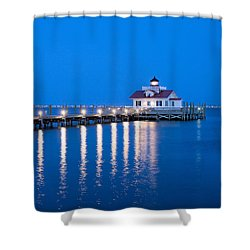 Shower Curtain featuring the photograph Roanoke Marshes Lighthouse Revisited by Marion Johnson