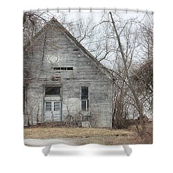 Roanoke Missouri Building Shower Curtain