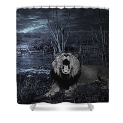 Roar Of The Asiatic Lion  Shower Curtain