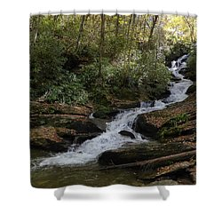 Roaring Fork Falls - October 2015 Shower Curtain by Joel Deutsch