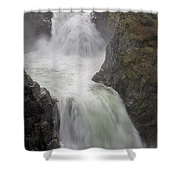 Shower Curtain featuring the photograph Roaring River by Randy Hall