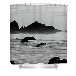 Roaring Seas Shower Curtain