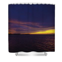 Roatan Sunset Shower Curtain by Stephen Anderson
