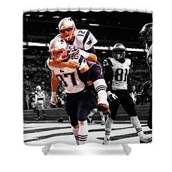 Rob Gronkowski And Tom Brady Shower Curtain