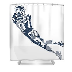 Rob Gronkowski New England Patriots Pixel Art 10 Shower Curtain