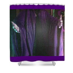 Shower Curtain featuring the digital art Robed Arms by Michelle Audas
