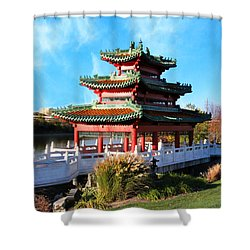 Robert D. Ray Asian Garden Shower Curtain by Kathy M Krause