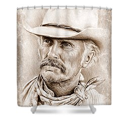 Robert Duvall  The Western Collection Shower Curtain