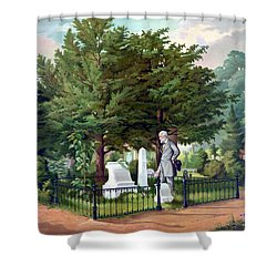 Robert E. Lee Visits Stonewall Jackson's Grave Shower Curtain by War Is Hell Store