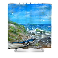 Robert Moses Beach Shower Curtain by Patrice Torrillo