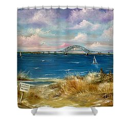 Robert Moses Bridge Shower Curtain by Patrice Torrillo