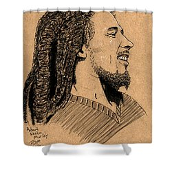Robert Nesta Marley Shower Curtain