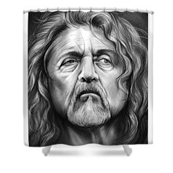 Robert Plant Shower Curtain by Greg Joens