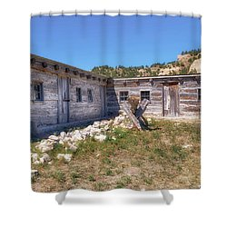 Shower Curtain featuring the photograph Robidoux Trading Post by Susan Rissi Tregoning