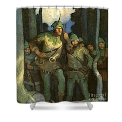 Robin Hood And His Merry Men Shower Curtain by Newell Convers Wyeth