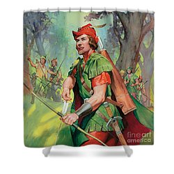 Robin Hood Shower Curtain by James Edwin McConnell