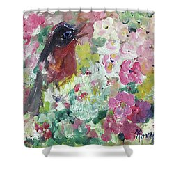 Robin Singing Shower Curtain