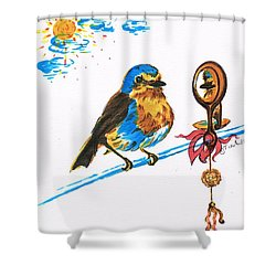 Robins Day Tasks Shower Curtain