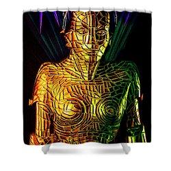 Robot Of Metropolis Shower Curtain