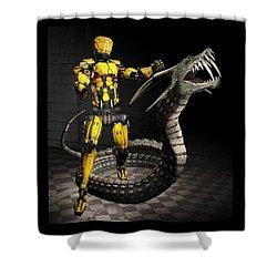 Robot Series 01 Shower Curtain