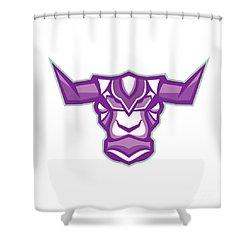 Robot Yak Bull Head Front Shower Curtain