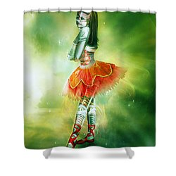 Robots Can Dream Too Shower Curtain by Mary Hood