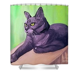 Robyn Date With Paint Mar 19 Shower Curtain