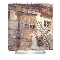 Rochan With Figure Shower Curtain by Dorothy Boyer