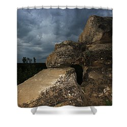 Roche Percee Peak Shower Curtain